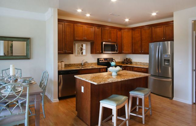 Exterior:Large Kitchen with Island