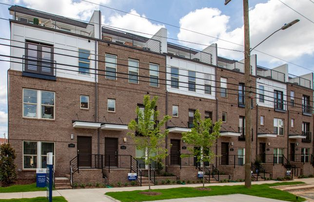 Teravista:Modern Exteriors with Brick and Roof Top Terraces facing the city skyline