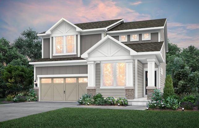 Boardwalk:Home Design NC2K - Exterior includes Brick Wainscot on front façade. See sales for details.