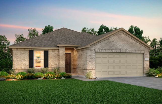 Exterior:Exterior O - The Eastgate plan, a one-story home with 2-car garage