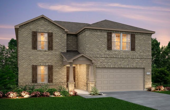 Exterior:Exterior O - The Stockdale plan, a two-story home with 2-car garage