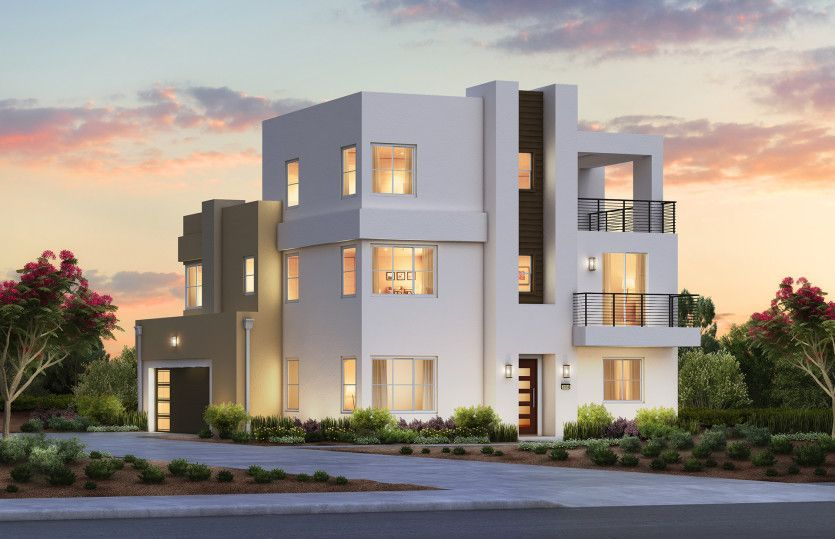 Exterior featured in the Plan 1X By Pulte Homes in Orange County, CA