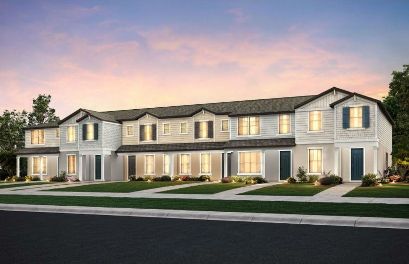Exterior featured in the Hillsdale - Interior Unit By Pulte Homes in Orlando, FL