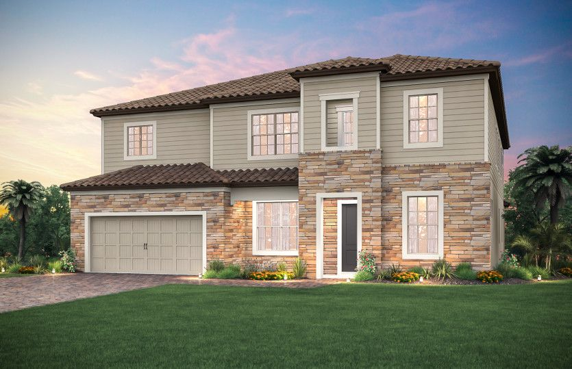 Exterior featured in the Richmond By Pulte Homes in Orlando, FL