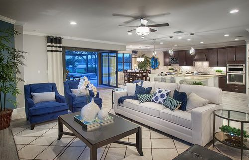 Greatroom-and-Dining-in-Infinity-at-Shoreview at Lakewood Ranch Waterside-in-Sarasota
