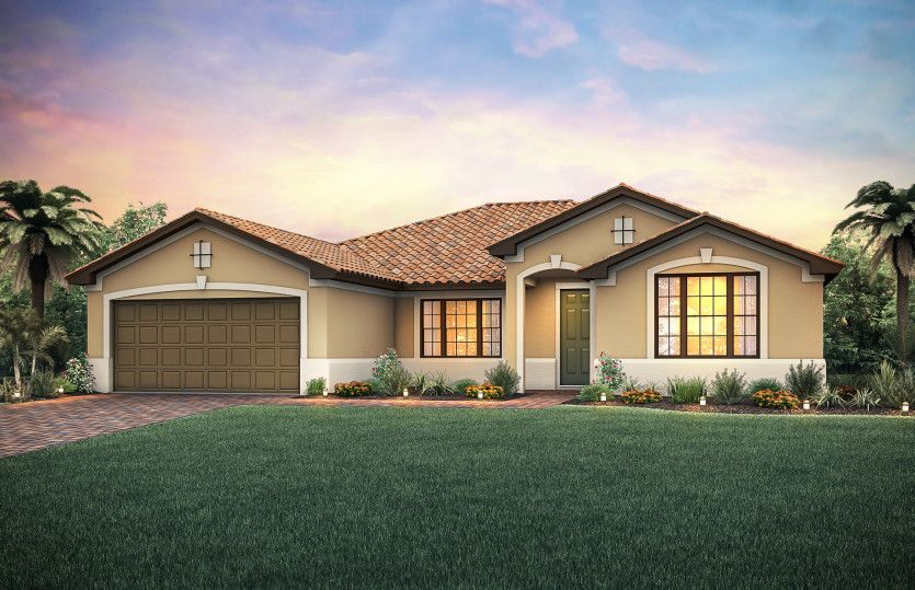 Exterior featured in the Tangerly Oak By Pulte Homes in Fort Myers, FL