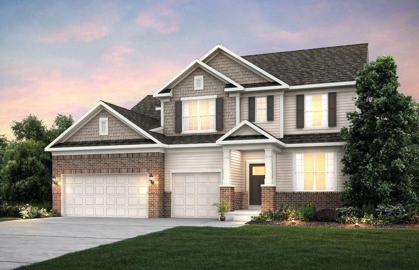 Exterior featured in the Allison with Basement By Pulte Homes in Indianapolis, IN