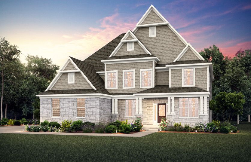 Exterior featured in the Deer Valley By Pulte Homes in Indianapolis, IN