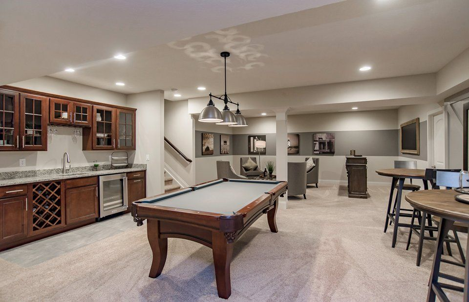 Recreation-Room-in-Plan 4150-at-Village of WestClay-in-Carmel
