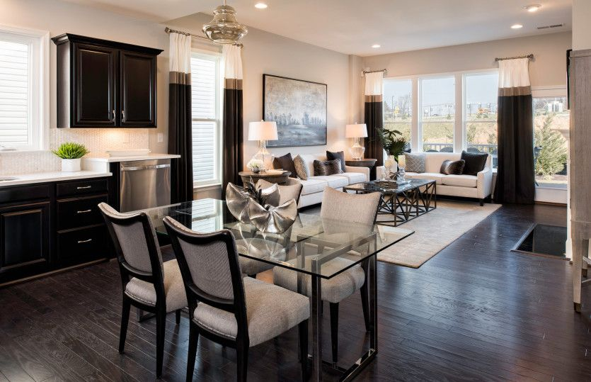 Greatroom-and-Dining-in-Burgundy-at-Courts of Clarksburg - Active Adult Community-in-Germantown