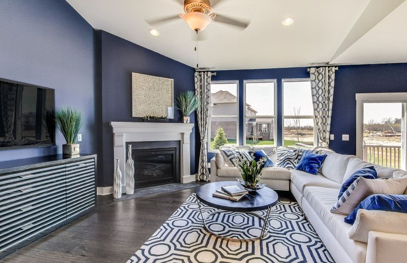 Living Area featured in the Bayport II with basement By Pulte Homes in Detroit, MI