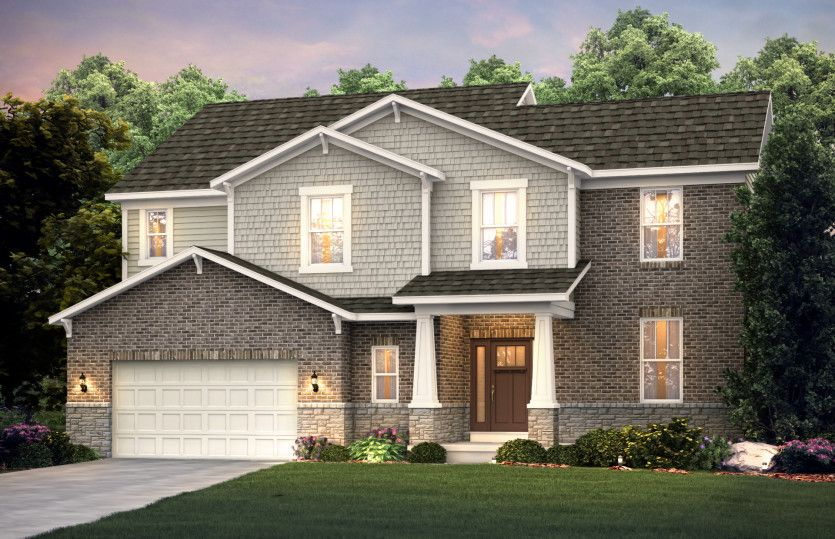 Exterior featured in the Maple Valley By Pulte Homes in Ann Arbor, MI