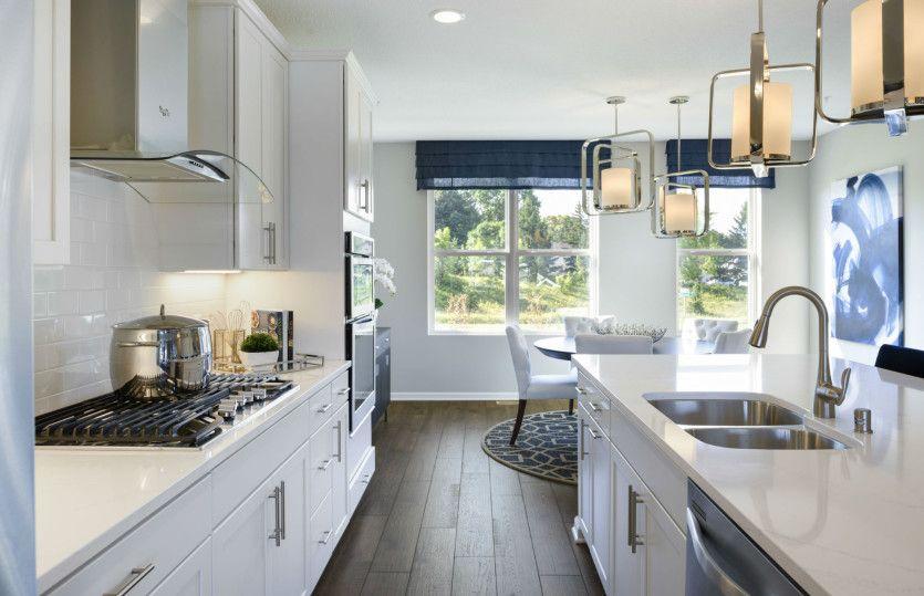 Kitchen-in-Portsmill-at-Brooks Ridge- Freedom Series-in-Chaska