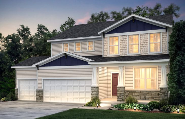 Exterior:Craftsman (Stone) with 3 Car Option