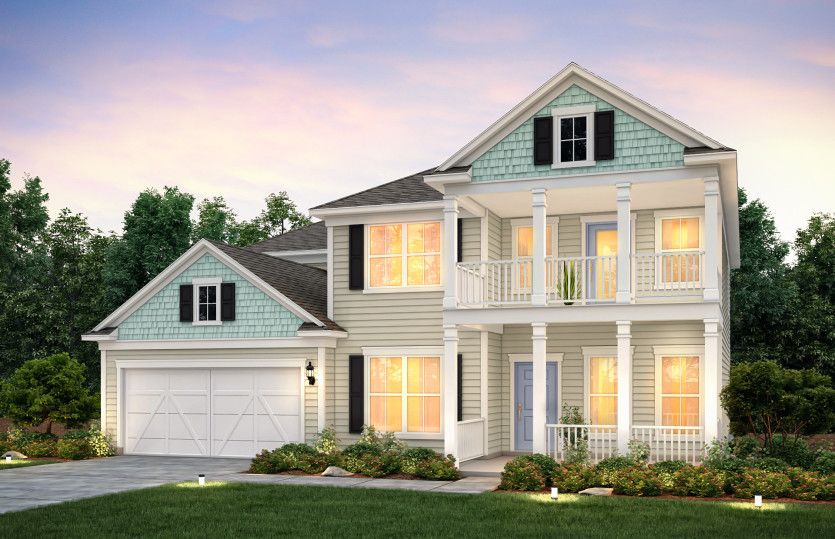 Exterior featured in the Riverton By Pulte Homes in Charlotte, NC