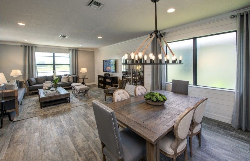 Greatroom-and-Dining-in-Fifth Avenue-at-The Ridge at Stormcloud-in-Albuquerque