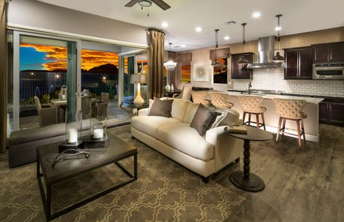 Greatroom-and-Dining-in-Plan 3 - Verona-at-The Cove - Horizon and Shoreline Collections-in-Las Vegas