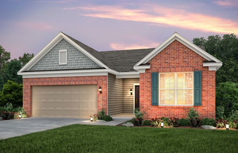 Exterior featured in the Abbeyville By Pulte Homes in Columbus, OH