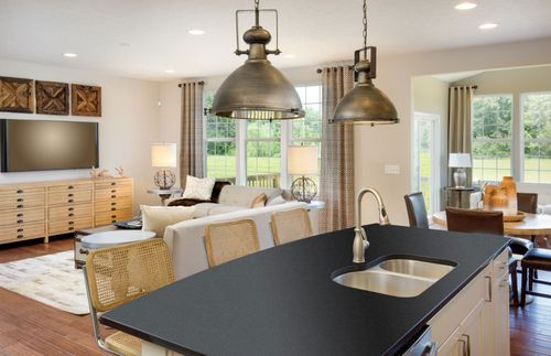 Greatroom-and-Dining-in-Hilltop-at-Meadows at Spring Creek-in-Pickerington