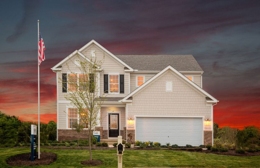 Exterior featured in the Mercer By Pulte Homes in Columbus, OH