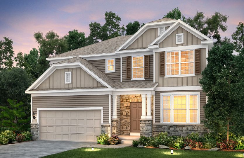 Exterior featured in the Mercer By Pulte Homes in Cleveland, OH