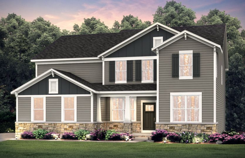 Exterior featured in the Castleton By Pulte Homes in Akron, OH