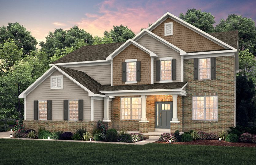 Exterior featured in the Woodside By Pulte Homes in Akron, OH