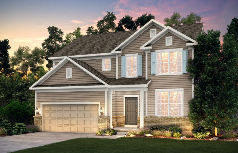 Exterior featured in the Mercer By Pulte Homes in Akron, OH