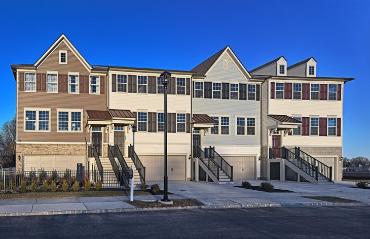 Exterior:Luxury Surrey 3-story townhome design at Tall Oaks