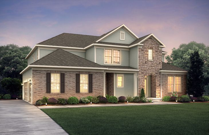 Exterior:Trailway HR2S luxury single family home at Tice Estates