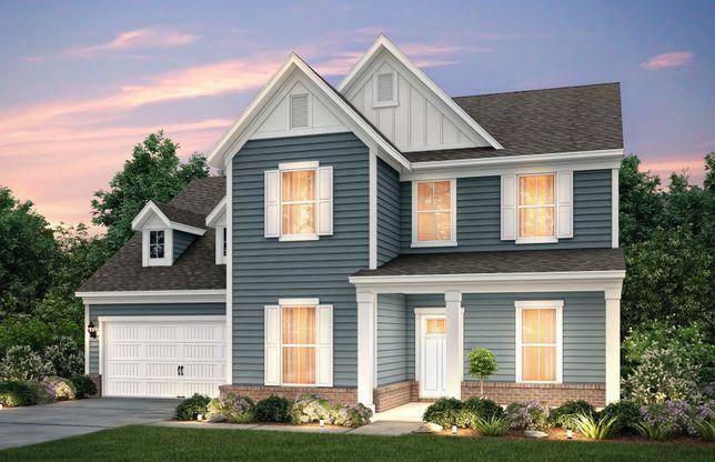 Northridge:Northridge exterior LC2G w/siding, brick and front porch