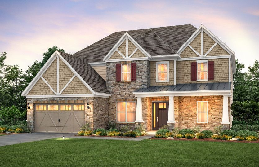 Exterior featured in the Beaconhill By Pulte Homes in Charlotte, SC