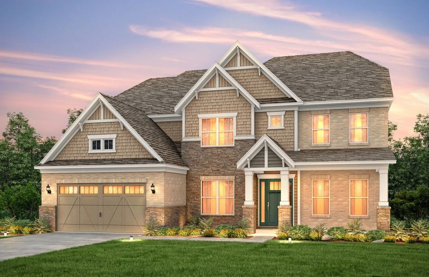 Exterior featured in the Worthington By Pulte Homes in Charlotte, SC