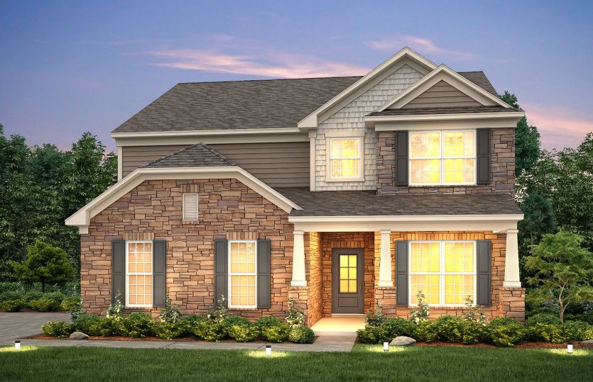 Exterior featured in the Continental II By Pulte Homes in Nashville, TN