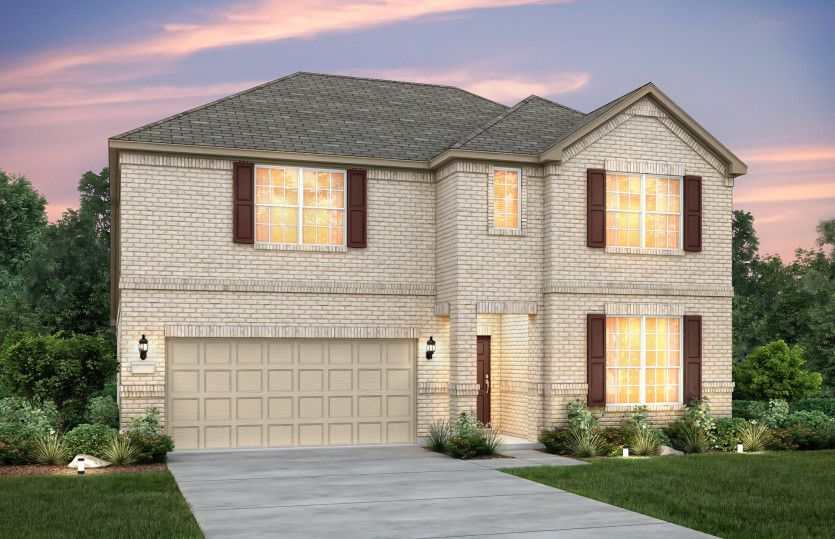 Exterior featured in the Lockhart By Pulte Homes in Austin, TX