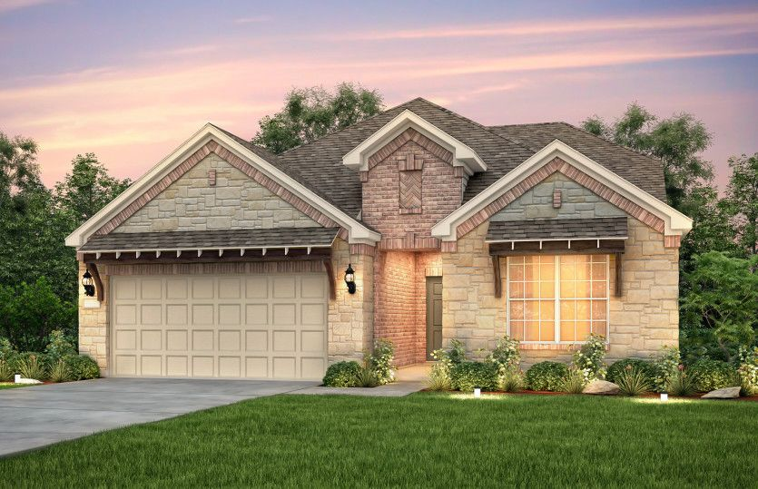 Exterior featured in the Mooreville By Pulte Homes in Austin, TX