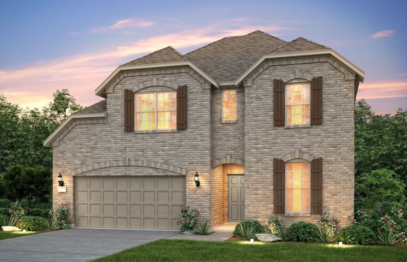 Exterior featured in the Lexington By Pulte Homes in Austin, TX