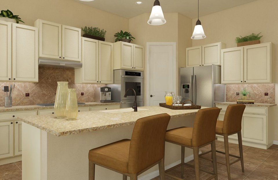Kitchen-in-Camelot-at-Heritage Oaks at Pearson Place-in-Austin