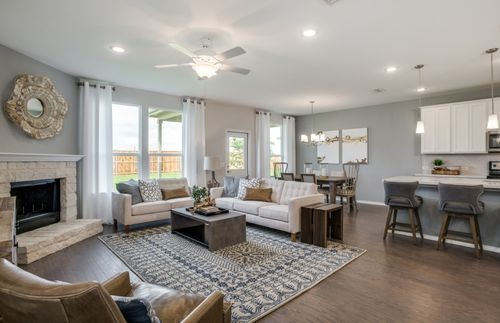 Greatroom-and-Dining-in-Stockdale-at-Stonewall Ranch-in-Liberty Hill