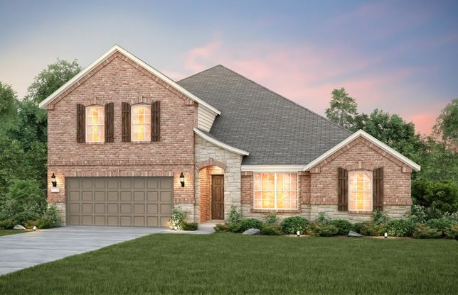 Addison:The Addison, a 2-story plan shown with Exterior D