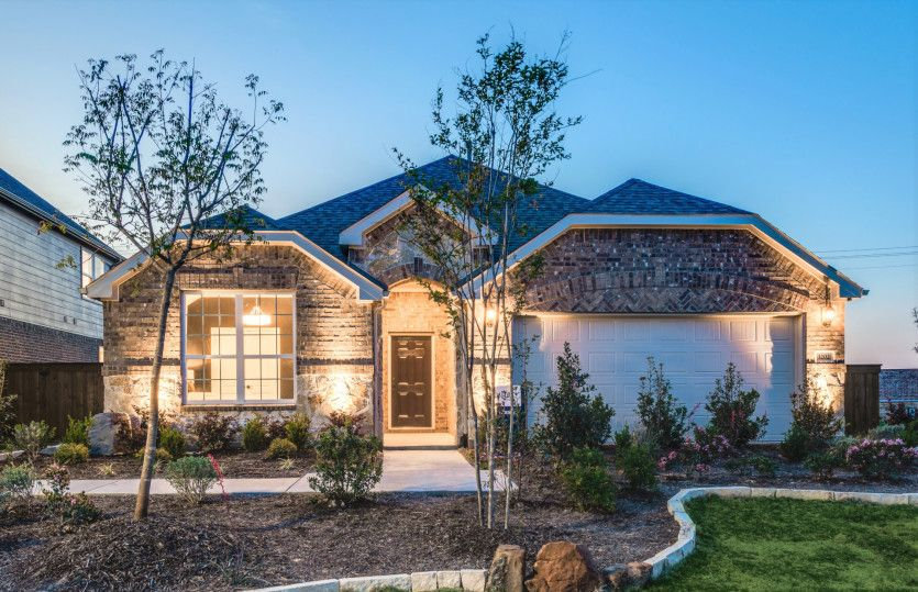 Exterior featured in the Mckinney By Pulte Homes in Fort Worth, TX