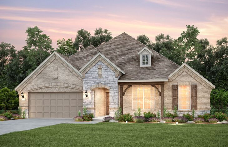 Exterior:The Kennedale, a 2-story home shown with Exterior D