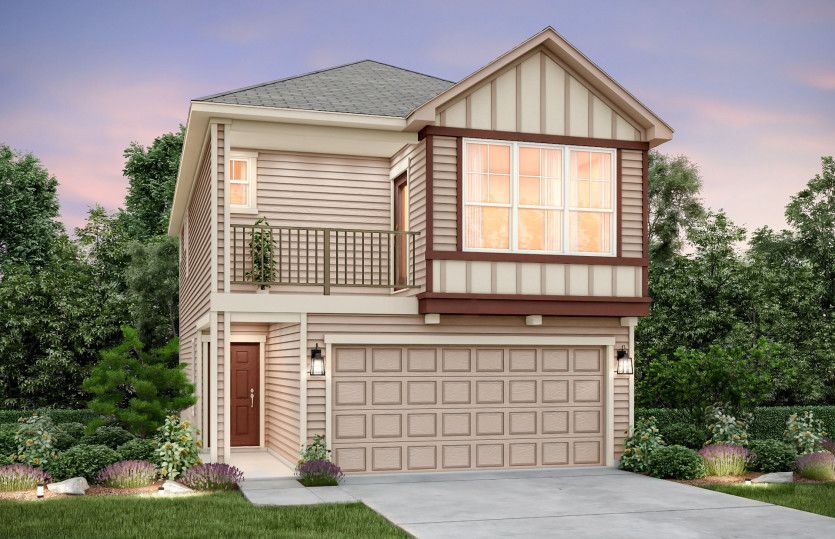 Exterior featured in the Redding By Pulte Homes in Houston, TX
