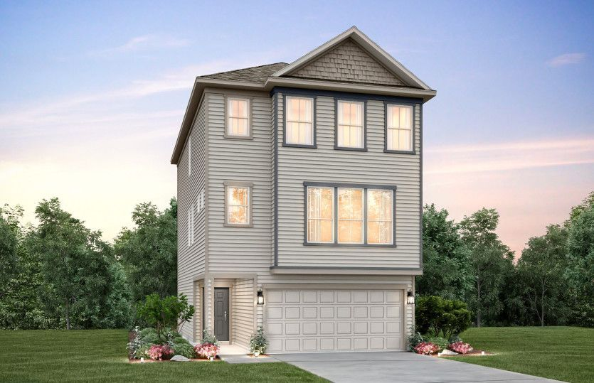 Exterior featured in the Mathis By Pulte Homes in Houston, TX
