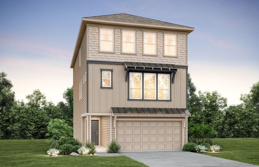 Exterior featured in the Rosenberg By Pulte Homes in Houston, TX