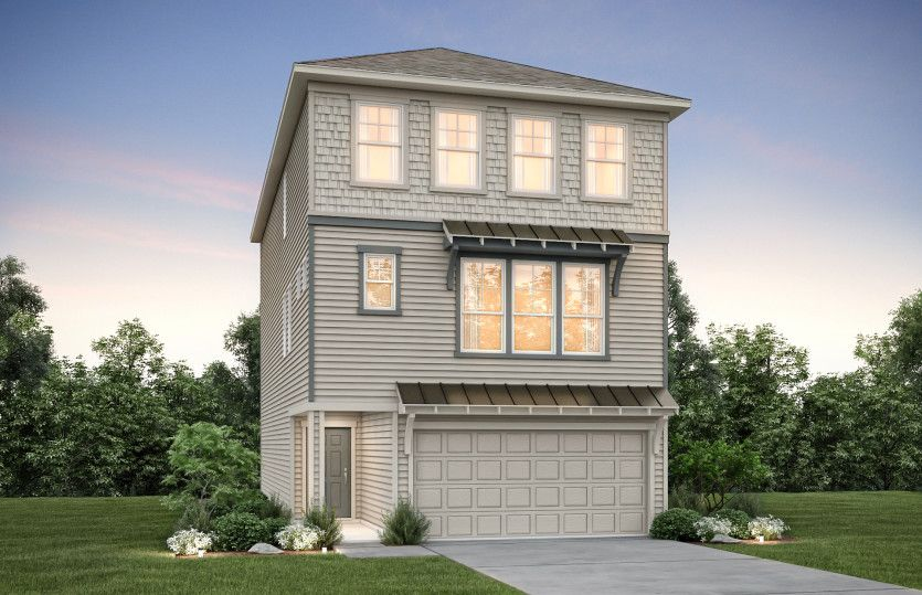Exterior featured in the Lindley By Pulte Homes in Houston, TX