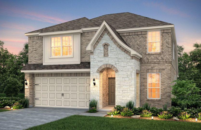 Exterior featured in the Hamilton By Pulte Homes in Houston, TX