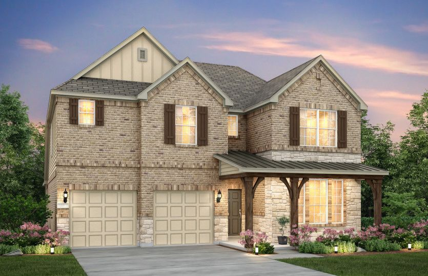 Exterior featured in the Lockhart By Pulte Homes in Houston, TX