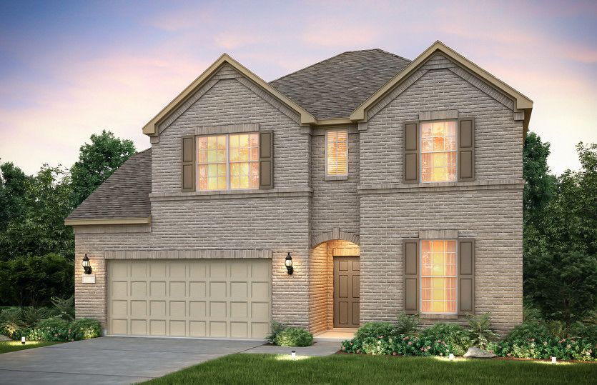 Exterior featured in the Lexington By Pulte Homes in Houston, TX