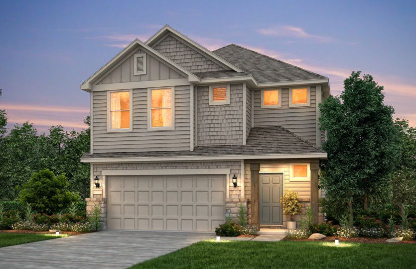 Exterior featured in the Alexander By Pulte Homes in Houston, TX